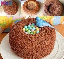 Fajny pomysl na ciasto... Czekoladowe GNIAZDKO:)