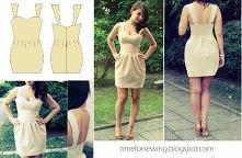 Kolejna sukienka, którą zaprojektowałam i uszyłam. Może być ?:)