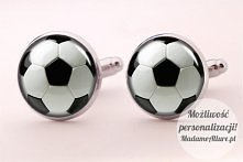 Ślubne spinki do mankietów Piłka nożna  Dostępne w butiku MadameAllure!