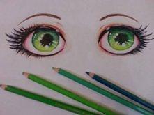 Zielone oczy :) Długo przymierzałam się do narysowania ich. Oceniajcie i liczę na szczere komentarze :)