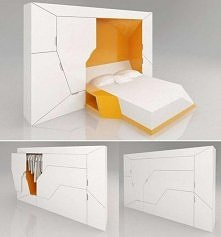 Genialny projekt, który łączy szafę i łóżko. Co o tym myślicie?