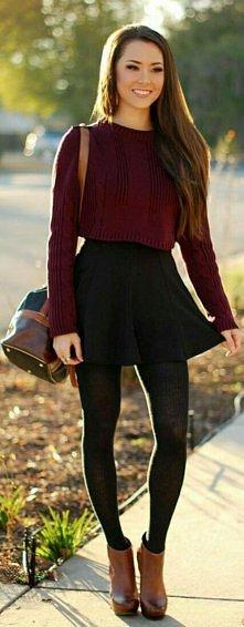 pięknie i tak jesiennie ;)Autumn is coming ;)wiecie gdzie mogę kupić taki krótki sweter ???