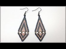 TheHeartBeading: Brick Stich Earrings Tutorial