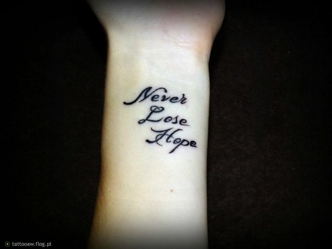 Never Lose Hope Na Tatuaże Zszywkapl
