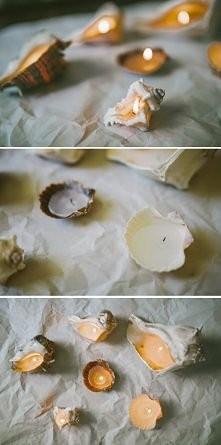muszelki świece