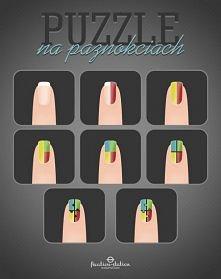 Prosty tutorial - jak wykonać zdobienie na paznokciach (puzzle)