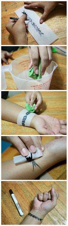 jak zrobić tatuaż za pomocą...