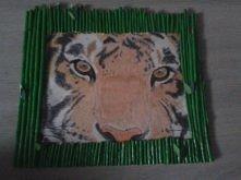 Tygrys mojego wykonania(ramka też). Jak oceniacie?
