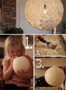 Abażur-lampa Potrzebne: bal...