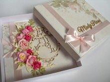 Karkta ślubna w pudełku