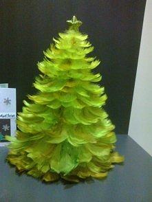 Choinka z piórek Bożonarodzeniowa :)