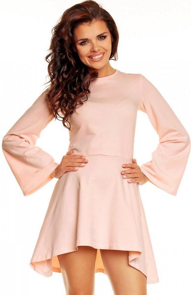 8074fb49f9 Nommo NA30 sukienka różowa Elegancka sukienka wykonana z gładki.. na ...