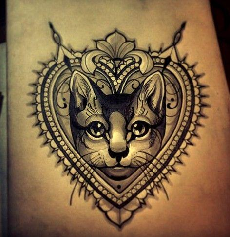 Koty Tatuaże Na Ciekawe Tatuaże Zszywkapl