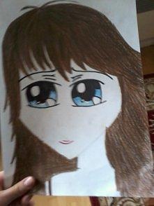 Mój 1 rysunek mangowy.xD Błagam bez hejtów!!! Pierwszy rysunek. !!! ;) Popracowałam nad proporcjami itp. i dalsze rysunki już wyglądały jak manga w końcu. ;3 Jeszcze raz prosze ...