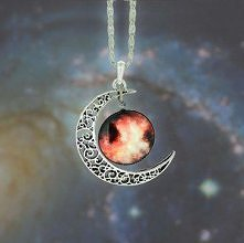 Fashion Moon Starry Sky Gem...
