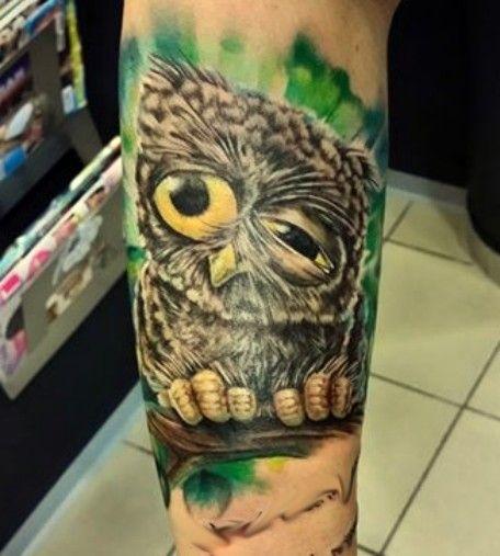 Tatuaże Wzory Sowy Na Ciekawe Tatuaże Zszywkapl