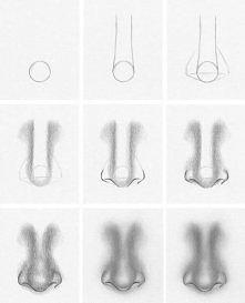 Jak narysować nos-krok po kroku.