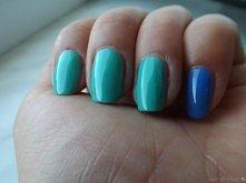 Uwielbiam miętowe paznokcie :)