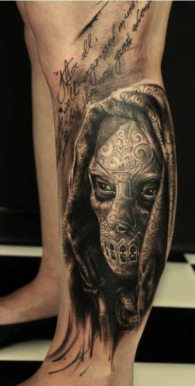 Tatuaż Na Nodze Na Tatuaże Zszywkapl