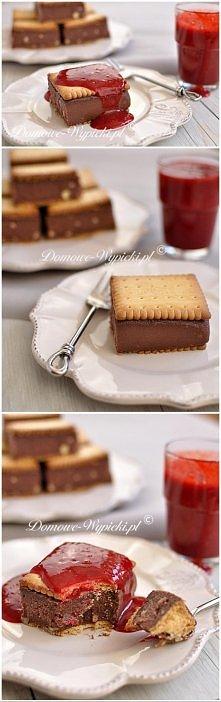 Ciasto kasza manna według Ewy Wachowicz Składniki: 1 litr mleka 1 szklanka cukru (200g) 3 łyżki kakao 1 szklanka kaszy manny 1 kostka masła (250g) lub Kasi :) herbatniki petit b...