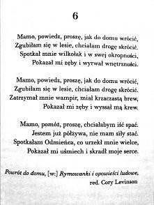 """mój ulubiony wierszyk z książki """"Delirium"""" miał służyć aby straszyć..."""