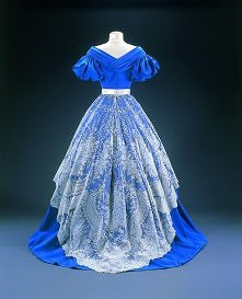Museum of Costume and Lace Evening skirt: point de gaze 1865-1868