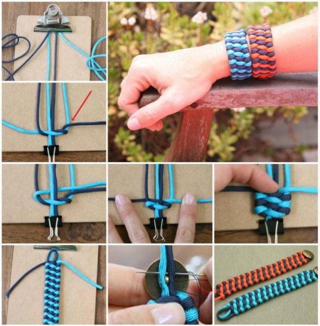 Beautiful DIY Woven Cuff Bracelet