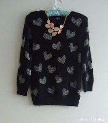 Sweterek w serducha :)
