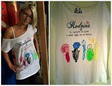 Koszulka-laurka :) Obrazek jest namalowany przez 4letnią dziewczynkę, a ja pr...