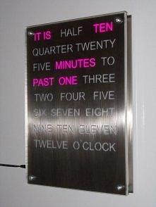 pink word clock