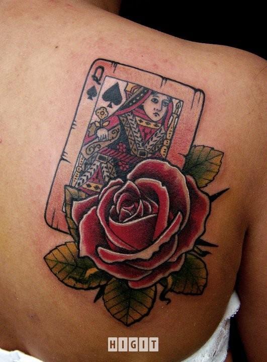 Karta Dama Z Różą Co Myślicie Na Tatuaże I Piercing
