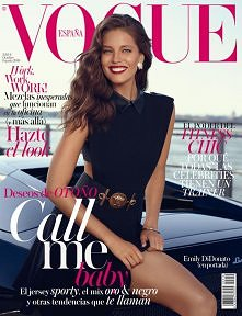 Piękna Emily DiDonato w sesji dla Vogue Spain October 2014! photo: Miguel Rev...