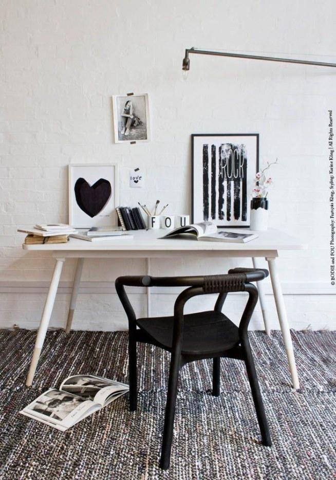 czarno- białe wydruki fajnie mogą udekorować pomieszczenie, wystarczy znaleźć ciekawy wzór