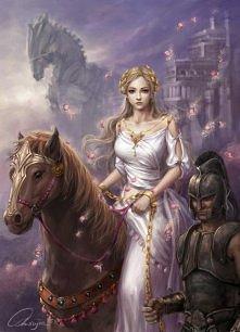 Helena na koniu.