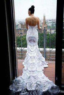 SZYDEŁKOWA suknia ślubna... *,* *,*