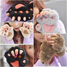 rękawiczki łapki misia :)