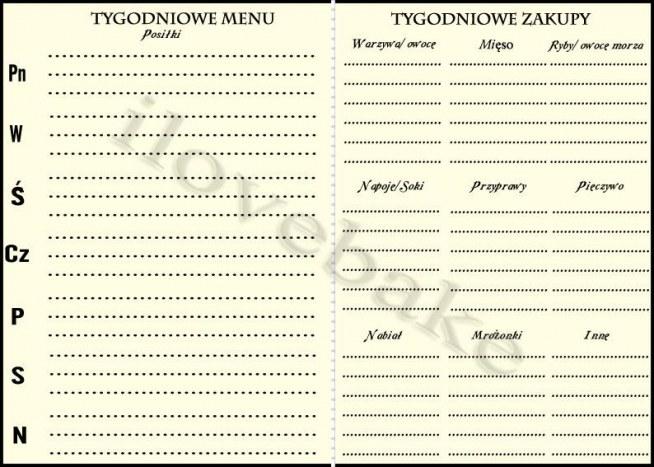 Diy tygodniowa lista menu i zakupów - jak oszczedzac na zakupach - ilovebake.pl