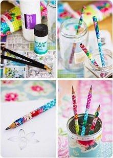 pomysł na ołówki decoupage :)