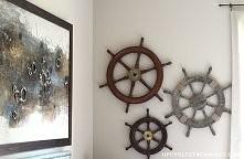 marynarska dekoracja ze steru. Świetne!
