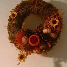 okrągły stroik jesienny