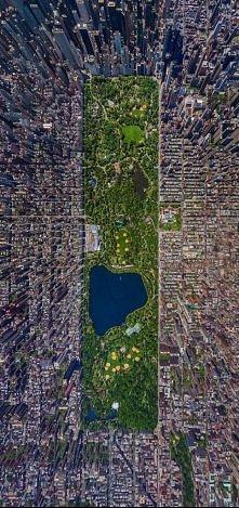 Nowy Jork i Central Park z lotu ptaka
