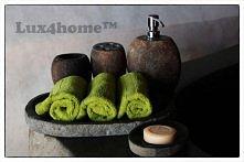 Lux4home™ produkuje takie oto komplety kamiennych pojemników na kosmetyki. Pojemniki na mydło, waciki, ręczniczki...