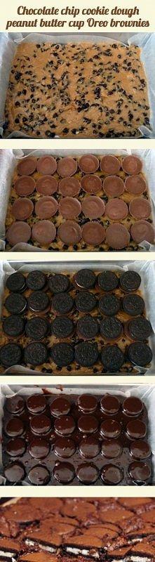 Brownie+czekolada+masło orzechowe+oreo=♥♥♥  themetapicture.com