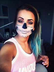 Makijaż na halloween: Szkielet.  Find me on facebook: Paulina Jankowska Make Up