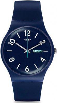 Granatowy zegarek marki Swa...