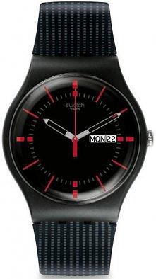 Gustowny zegarek marki Swatch.