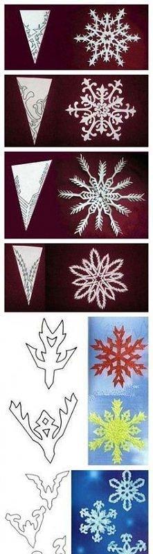 platki sniegu z papieru :)
