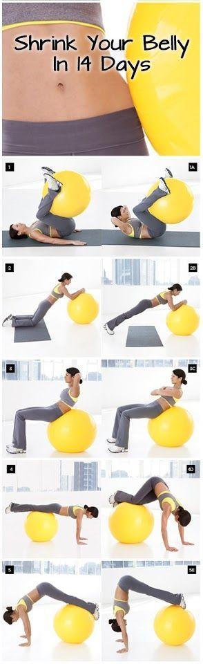 Ćwiczenia na brzuch z piłką