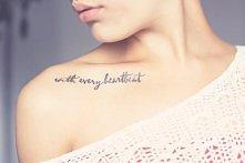 subtelny tatuaż