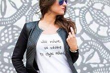Koszulka dostępna od zaraz!  fot. Justyna Gajownik modelka: Marika Bucka styl...